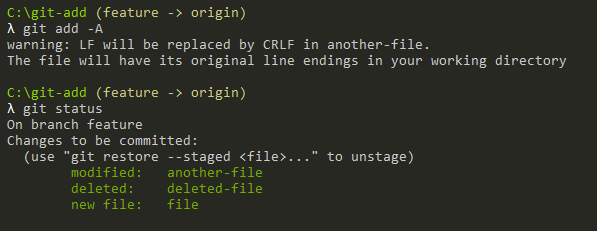 Add All Files using Git Add adding-all-files