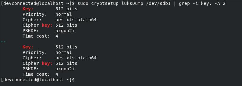 Add Key to LUKS Volume luks-dump-command