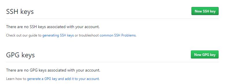 Add SSH key to your GitHub Account ssh-key-create