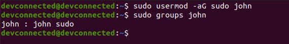 Adding a user to administrators-add-user-sudo