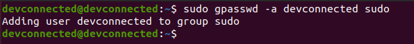 Adding a user to sudoers using gpasswd