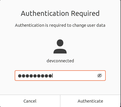 Adding a user to sudoers using the graphical interface authentication-required