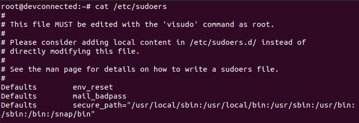 Adding an existing user to the sudoers file sudoers