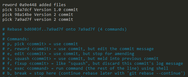 Amend Git Commit Message using rebase reword