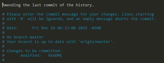 Amend Last Git Commit Message amending