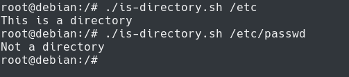 Bash File Conditions directory