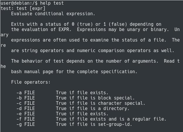 Bash Tests help-test