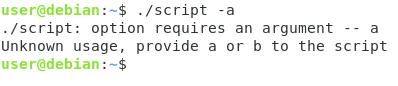 Bash options arguments script-arguments