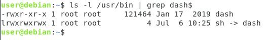Bash programming language dash