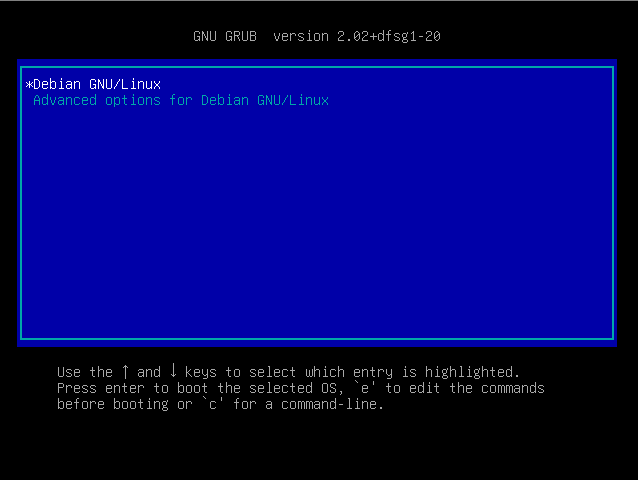Booting in Rescue Mode from GRUB-menu