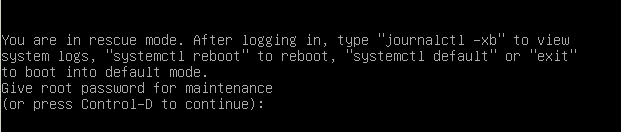 Booting in Rescue Mode from GRUB rescue-mode