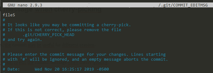 Change commit message when cherry-picking own-message