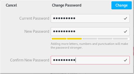 Change your password on the GNOME desktop change-password-debian