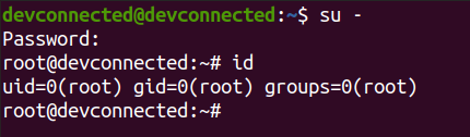 Changing the root password connect-to-root