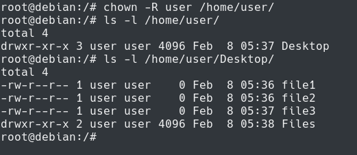 Chown Recursively chown-recursive