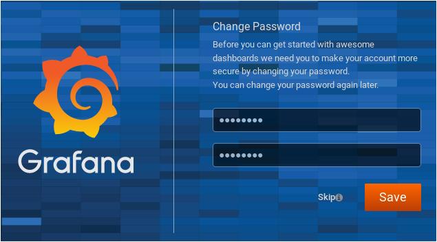 Configuring Grafana for InfluxDB grafana-default-pass