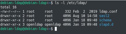 Configuring slapd on Debian 10 configuration