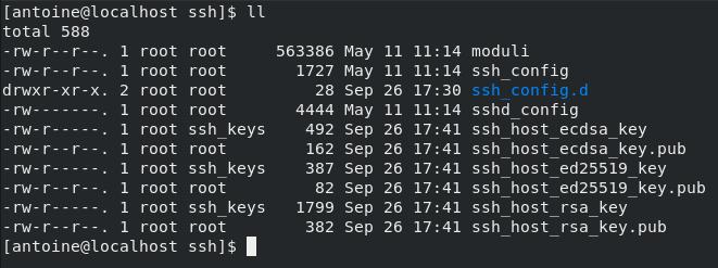 Configuring your SSH server on CentOS 8 config