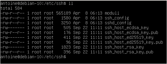 Configuring your SSH server on Debian ssh-config