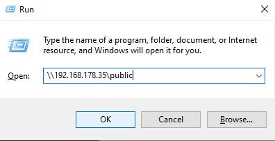 Connecting to Samba from Windows run-app-2