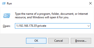 Connecting to secure Samba using Windows private