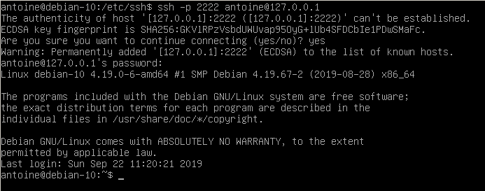 Connecting to your SSH server ssh-localhost