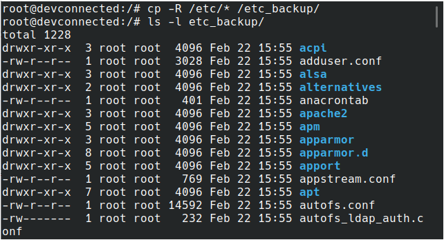 Copy Directory Content Recursively on Linux copy-content-directory