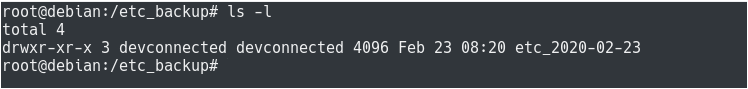 Copying using rsync backup-1