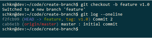 Create Git Branch from Tag create-tag