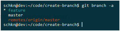 Create Git Branch without switching create-branch