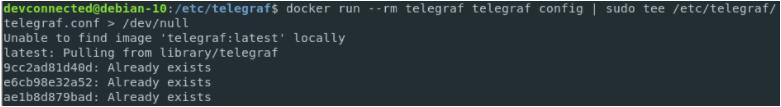 Creating a configuration file for Telegraf and Docker telegraf-config