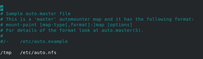Creating an indirect mapping autonfs