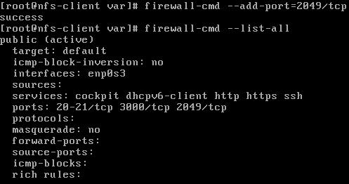 Customize Firewall Rules for NFS firewalld