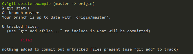 Delete Files From Git Repository only git-status-command