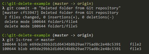 Delete Files Recursively on Git git-delete-folder