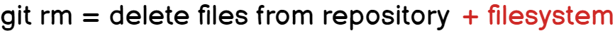 Delete Files using git rm git-rm