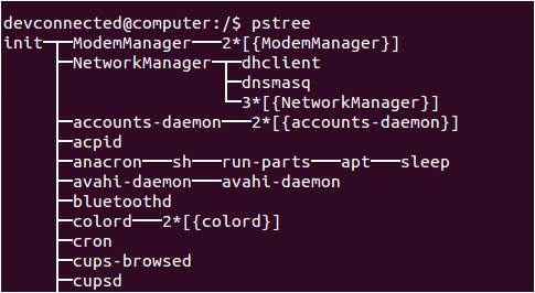 Determine the system manager used pstree-init