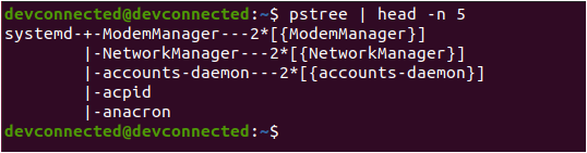 Determine the system manager used pstree