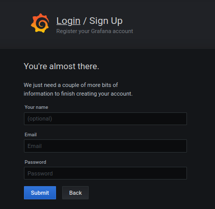 Disable new user registrations grafana-signup