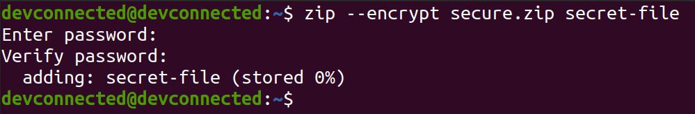 Encrypt Directory using zip secure-zip