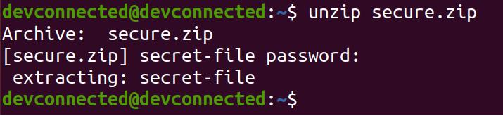 Encrypt Directory using zip unzip-encrypted-zip