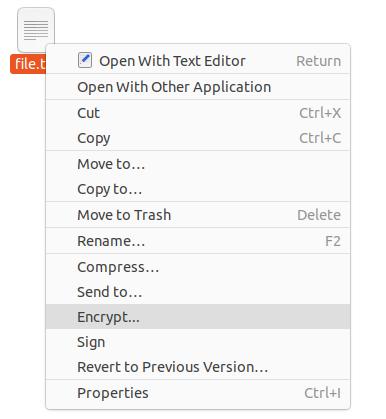 Encrypt Files using Nautilus GUI nautilus-encryption