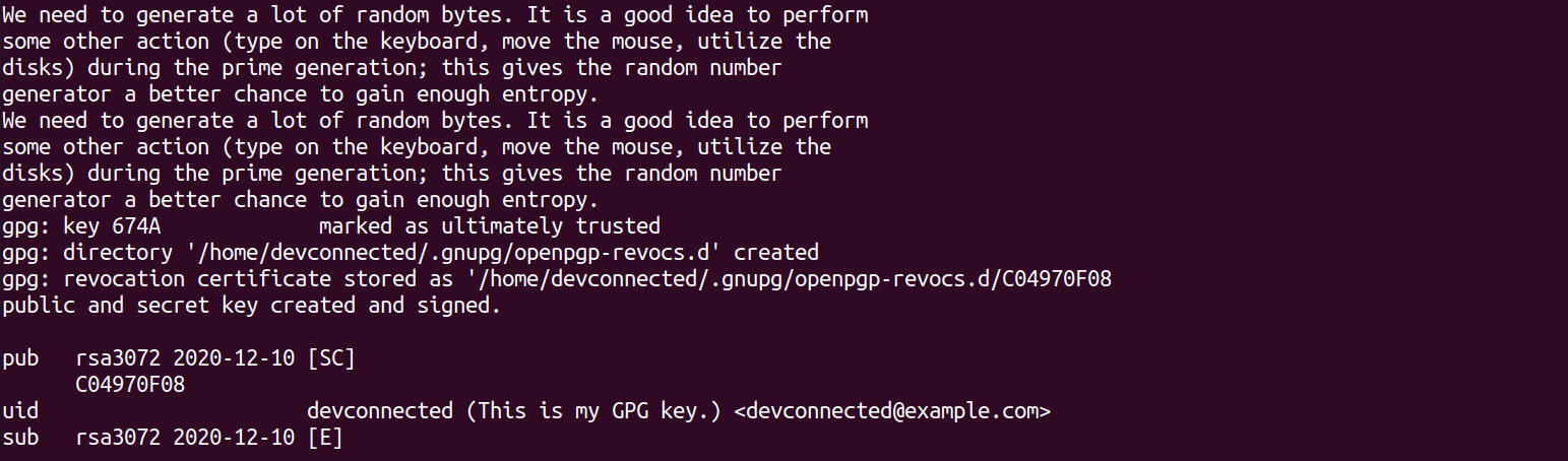 Encrypt Files using private key generated-key-linux
