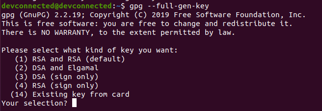 Encrypt Files using private key gpg-generate-key