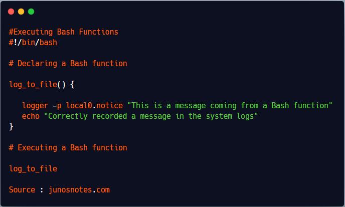 Executing Bash Functions