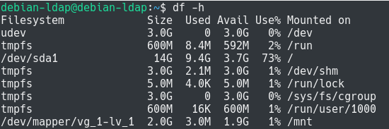 Expanding Existing Filesystems using LVM df-h-1