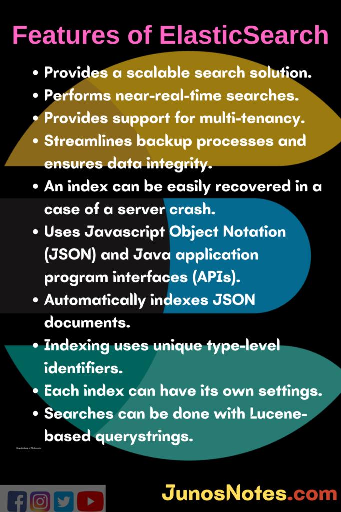Features of ElasticSearch