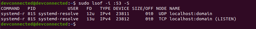 Finding your local DNS resolver lsof-command