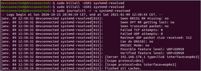 Flush DNS cache using signals flush-dns-using-signals