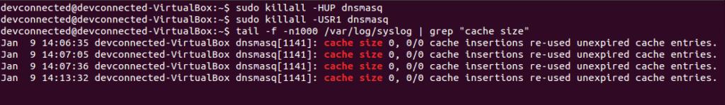 Flush DNS using dnsmasq flush-dnsmasq